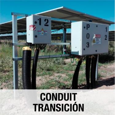 Conduit transicion